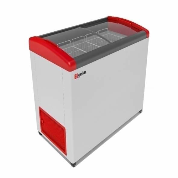 Морозильный ларь с гнутой крышкой GELLAR FG 400 E - купить в интернет-магазине key-t.com