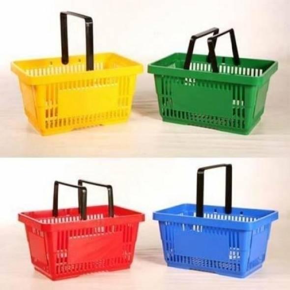 Корзина покупательская пластиковая, V=20 - купить в интернет-магазине key-t.com