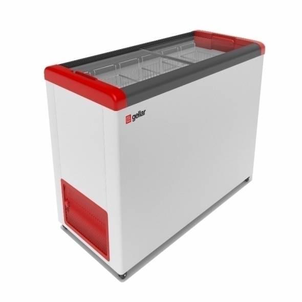 Морозильный ларь с прямым стеклом GELLAR FG 400 C - купить в интернет-магазине key-t.com