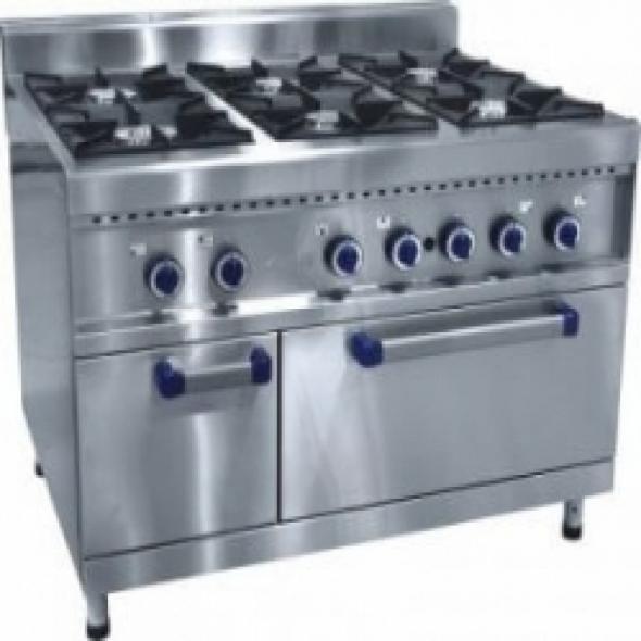 Плита газовая 6-ти горелочная ПГК-69-ЖШ с газовой духовкой - купить в интернет-магазине key-t.com