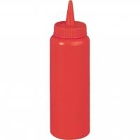 Бутылка для соуса 700 мл, цвет красный